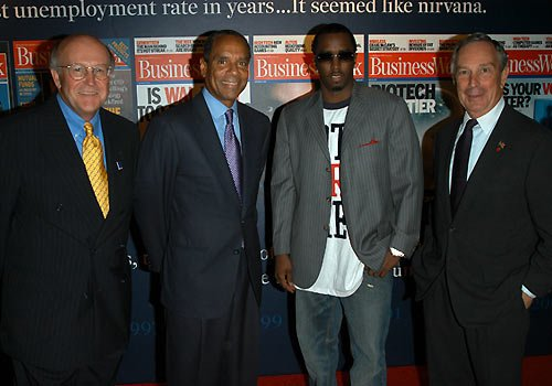 Photo: Ken Chennault - Puff Daddy - Mayor Mike Bloomberg